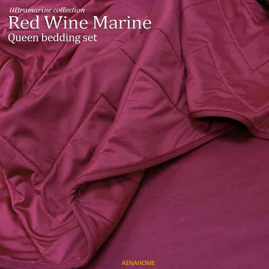 Aena ชุดเครื่องนอน Red Wine Marine 5 ฟุต
