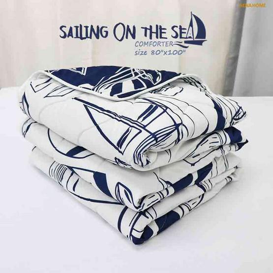 "Aena ผ้าห่มนวม Sailing On The Sea 80""x100"""