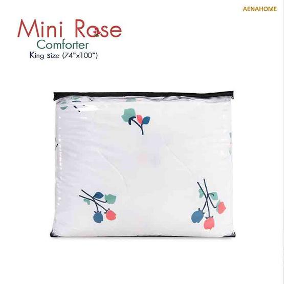 "Aena ผ้าห่มนวมดอกไม้ Mini Rose 74""x100"""