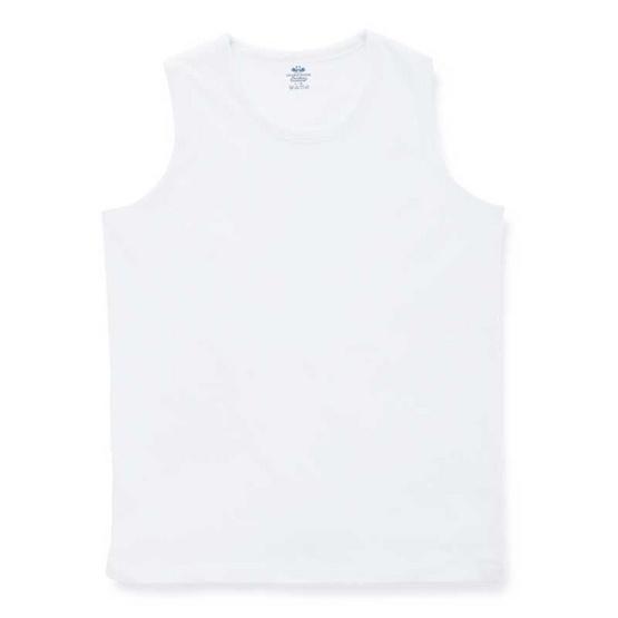 ตราห่านคู่ เสื้อแขนกุดเด็กชาย JB002 สีขาว