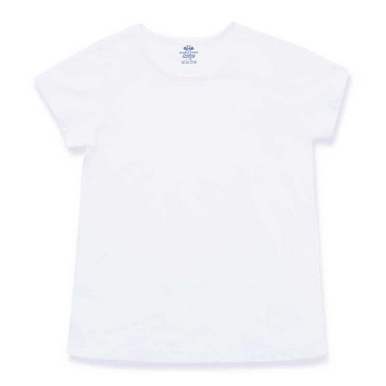 ตราห่านคู่ เสื้อคอกลมเด็กหญิง JG003 สีขาว