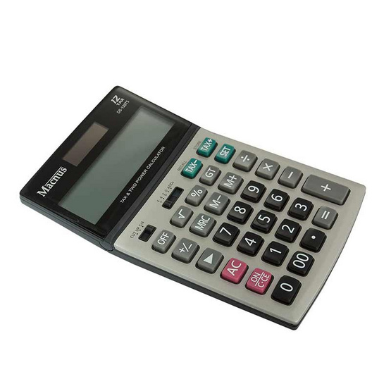 Macnus เครื่องคิดเลข DS-120TS Black Calculator 12Tax