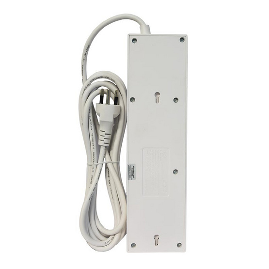 Anitech ปลั๊กไฟ มอก. 4 ช่อง 4 สวิตช์ 2 USB สาย 3 เมตร รุ่น H5034-WH