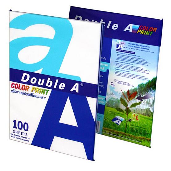 Double A กระดาษถ่ายเอกสาร Color Print A4 90แกรม 100แผ่น/แพ็ค
