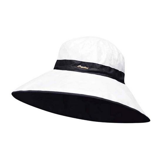 หมวกปีกกว้างกันยูวี ม้วนเก็บได้ Sweet Swiss สีดำ