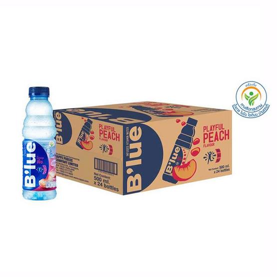 น้ำดื่มบลูพีช 500 มล. (ยกลัง 24 ขวด)