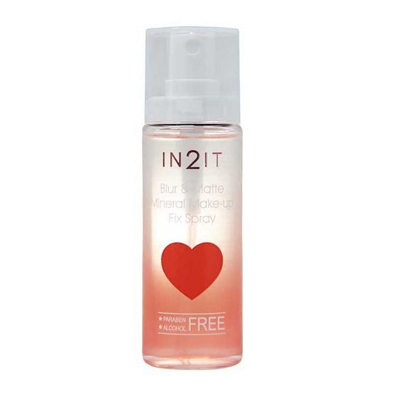 IN2IT สเปรย์น้ำแร่ Blur & Matte Mineral Make-up Fix Spray 50 มล.