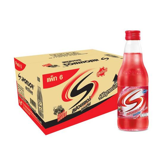 สปอนเซอร์ แอคทีฟ แม็กนีเซียม (สีแดง) 250 มล. (ยกลัง 24 ขวด)