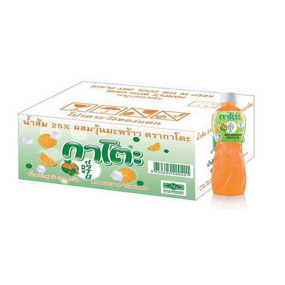 กาโตะ ส้มผสมวุ้นมะพร้าว 320 กรัม (ขายยกลัง 24 ขวด)