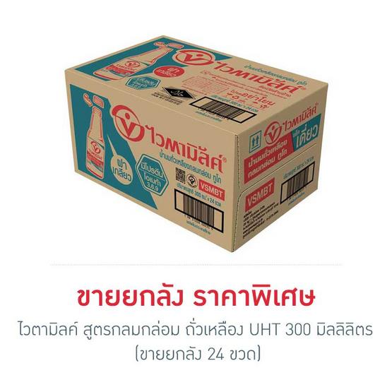 ไวตามิ้ลค์ ทูโก นมถั่วเหลือง สูตรกลมกล่อม 300 มล. (ยกลัง 24 ขวด)