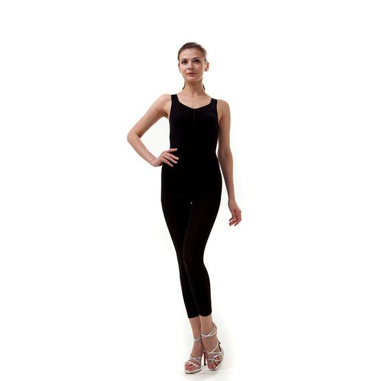Swans เสื้อกล้ามกระชับสัดส่วน Taping Top สีดำ