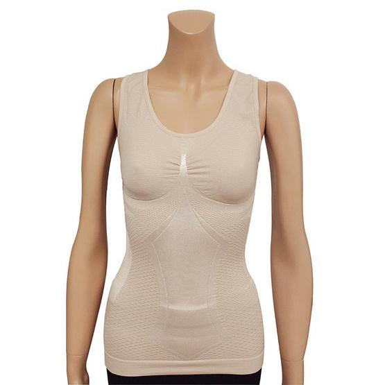 Swans เสื้อกล้ามกระชับสัดส่วน (ผ้าไหม) Strong Silk Top ฟรีไซส์ สีเนื้อ