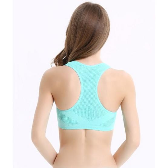 สปอร์ตบราออกกำลังกาย สีเขียว