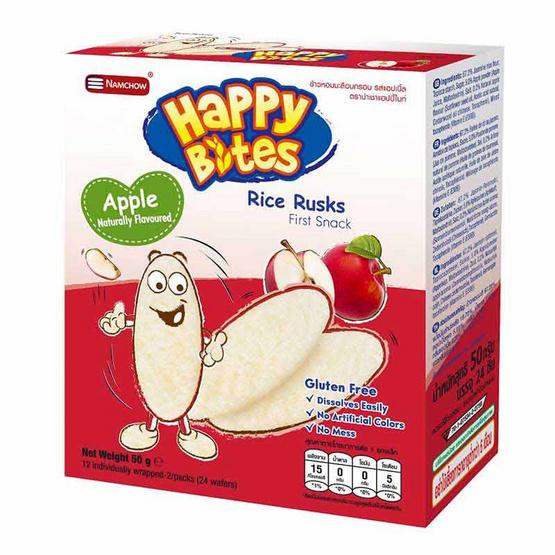 แฮปปี้ไบท์ ข้าวอบกรอบรสแอปเปิ้ล 50 กรัม