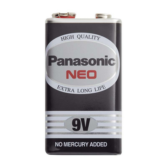 พานาโซนิคถ่าน โซนิค9โวลท์ดำ6F 22NT  1แพ็ก (6ชิ้น)