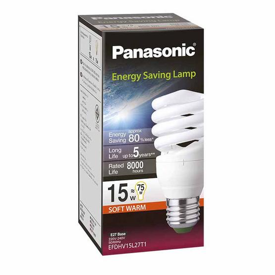 หลอดไฟสไปรัล 15W (แสงส้ม) PANASONIC