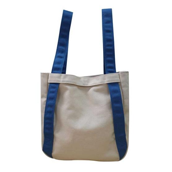 CP ALL กระเป๋าผ้าแคนวาส น้ำเงิน/ครีม