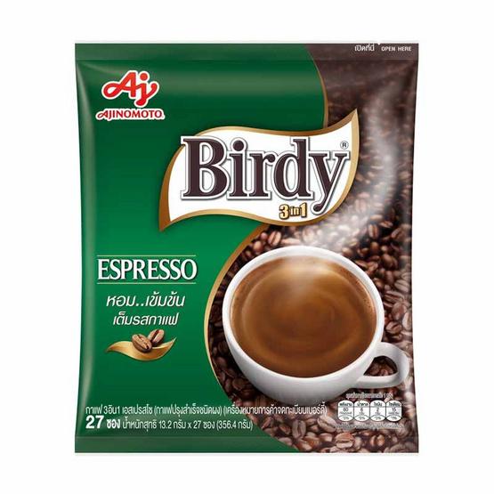เบอร์ดี้ กาแฟสำเร็จรูปชนิดผง เอสเปรสโซ่ แพ็ก 27 ซอง/ถุง
