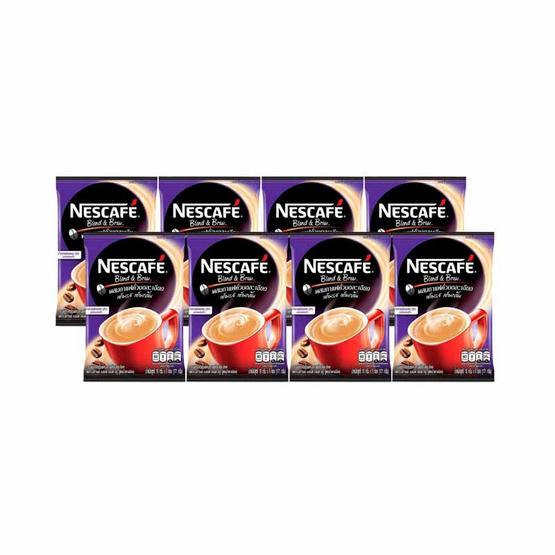 เนสกาแฟ3in1 เบลนด์แอนด์บรู สูตรน้ำตาลน้อย 140.4 กรัม (9 ซอง/ถุง) จำนวน 8 ถุง