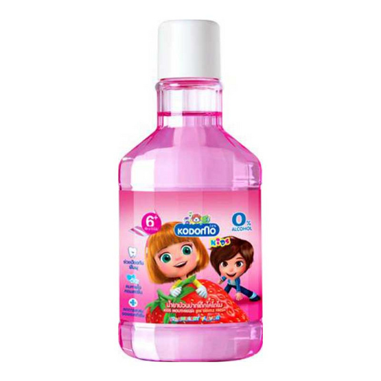 โคโดโม น้ำยาบ้วนปากเด็ก กลิ่นสตรอเบอร์รี่ 250 มล.