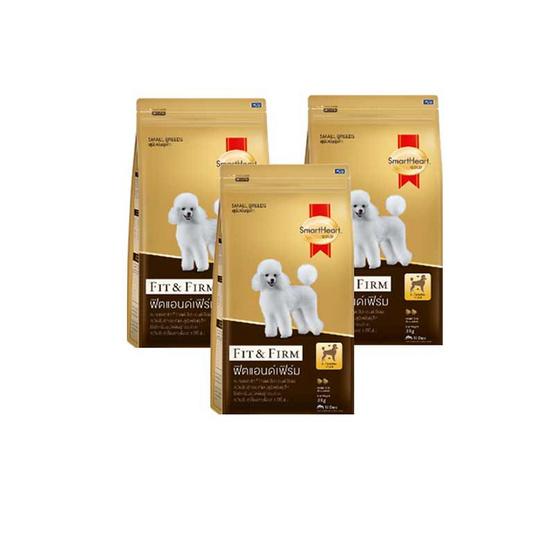 สมาร์ทฮาร์ทโกลด์ อาหารสุนัขฟิต&เฟิร์ม (1แพ็ก3ถุง)