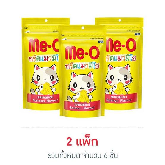 มีโอทรีตขนมแมว รสแซลมอน 50กรัม.(แพ็ก 3 ชิ้น)