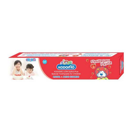 โคโดโมยาสีฟันเด็กสตรอเบอร์รี่ 40 กรัม (แพ็ก 6 ชิ้น)