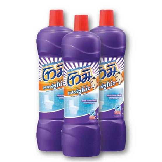 โทมิ น้ำยาล้างห้องน้ำ สีม่วง 850 มล. (แพ็ก 3 ชิ้น)