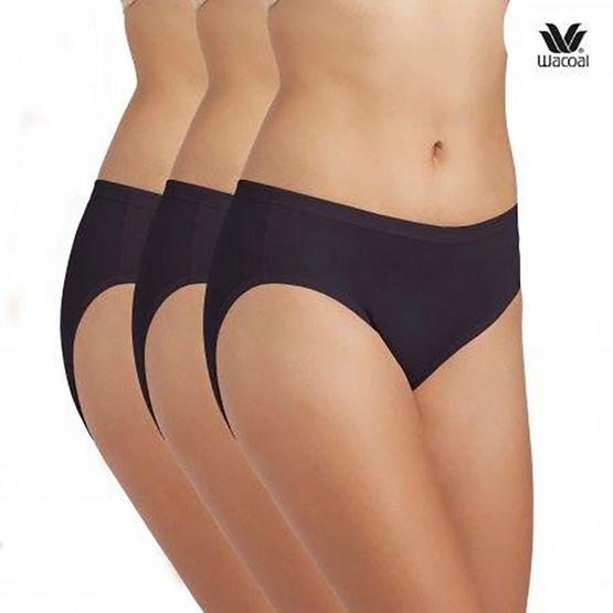 วาโก้ กางเกงในรูปแบบบิกินี่ เซ็ท 3 รุ่น WU1M01 สีดำ-สีดำ-สีดำ