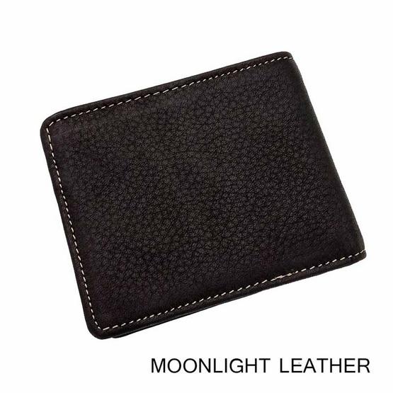 MOONLIGHT กระเป๋าสตางค์หนังแท้ 100% สีดำ  ทำจากหนังวัว