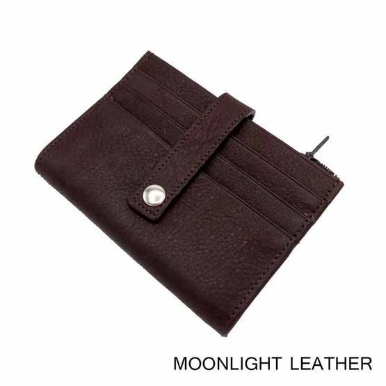 MOONLIGHT กระเป๋าใส่บัตรหนังแท้ รุ่น Winn สีน้ำตาลเข้ม