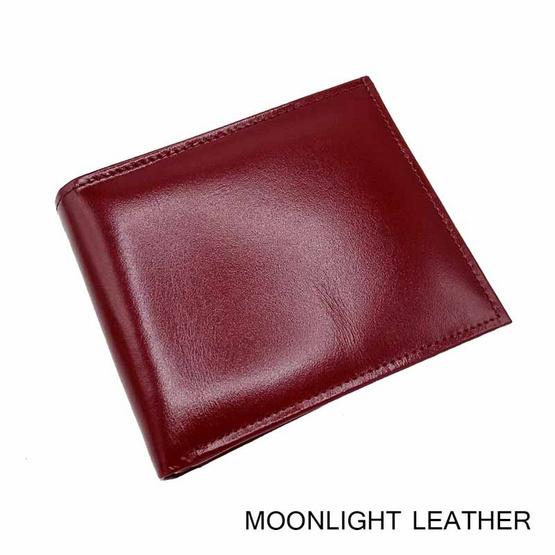 MOONLIGHT กระเป๋าสตางค์หนังวัวแท้ สำหรับผู้ชาย  รุ่น Boss สีแดง