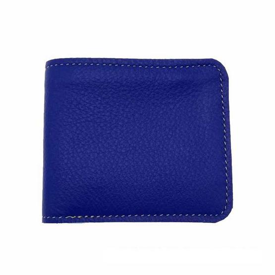 MOONLIGHT กระเป๋าสตางค์หนังแท้  รุ่น Hercules หนังนุ่ม  สีน้ำเงิน