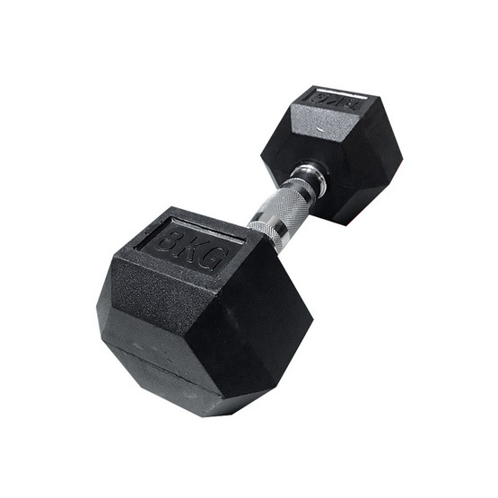 Major Sport ดัมเบลยกน้ำหนัก รุ่น Hex Rubber 8 ก.ก. (1 ข้าง)