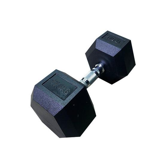 Major Sport ดัมเบลยกน้ำหนัก รุ่น Hex Rubber 17.5 ก.ก. (1 ข้าง)