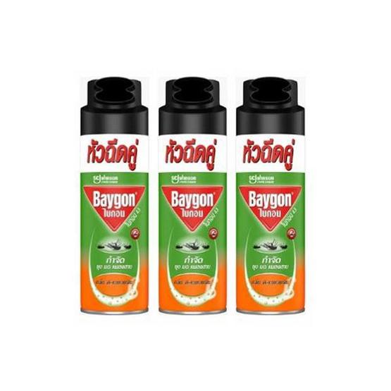 ไบกอนเขียว ดี-เลมอนนีน ยุงแมลงสาบ 300 มล. (แพ็ก 3 ชิ้น)
