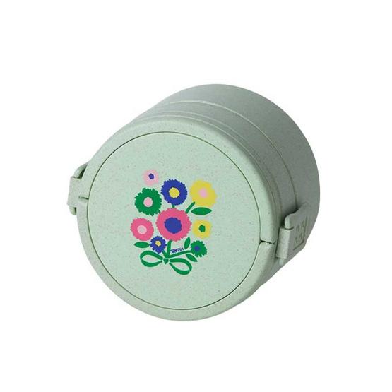 กล่องข้าวลาย  Blossom daisy สีเขียว