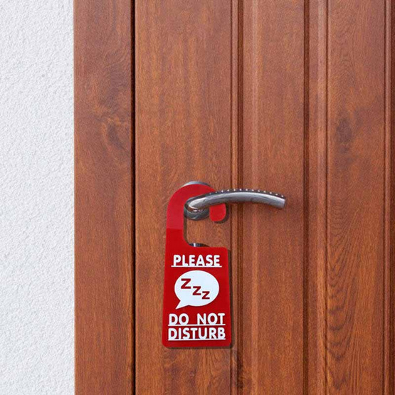 Robin ป้ายอะคริลิคแขวนประตู2ด้าน PLEASE DO NOT DISTURB / MAKE UP ROOM (แพ็ค2ชิ้น)