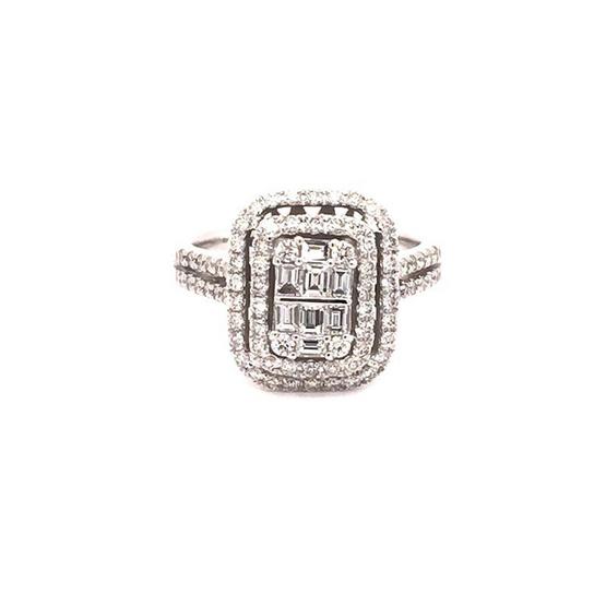Madam classic แหวน Tappe rประกบทรงสี่เหลื่ยมใหญ่ [MCD021WG55]