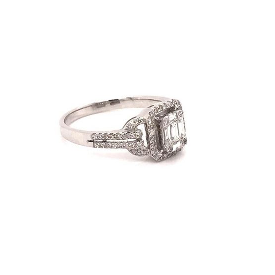 Madam classic แหวน Tapper ประกบทรงสี่เหลื่ยมเล็ก [MCD022WG56]