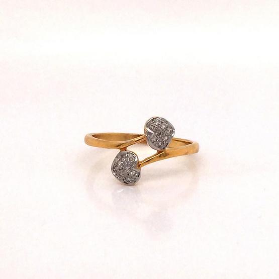 Madam classic แหวนหัวใจไขว้ [MCDRG3889YG51]