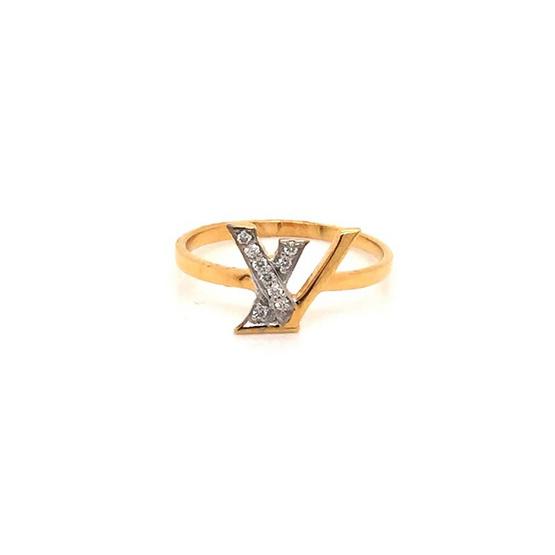 Madam classic แหวนแอลไขว้วี [MCDRG4168YG52]