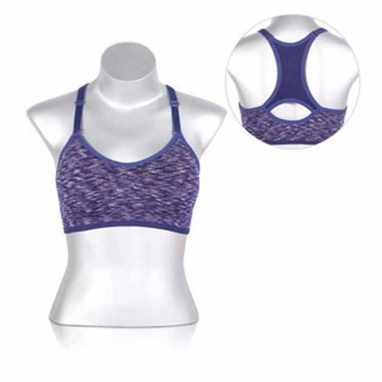 สปอร์ตบราออกกำลังกาย สีน้ำเงิน