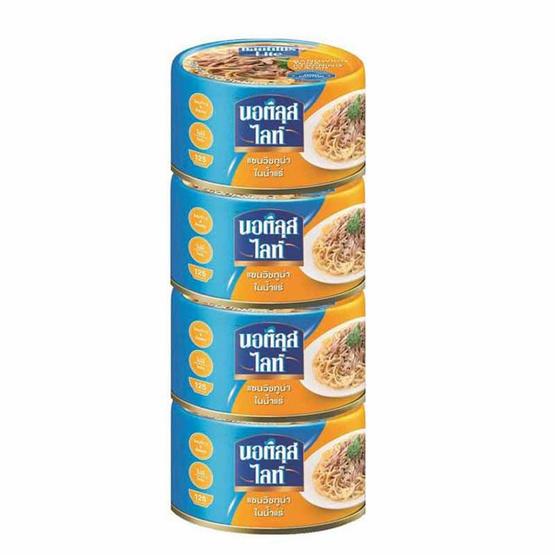 นอติลุสไลท์แซนวิชทูน่าในน้ำแร่ 165 กรัม แพ็ก 4