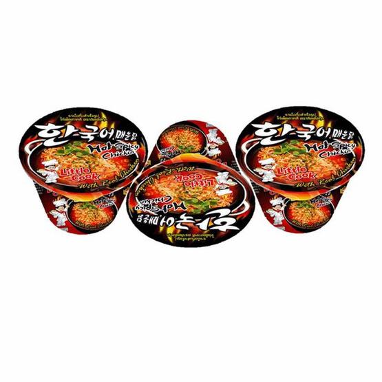 ลิตเติ้ลกุ๊กบะหมี่รสไก่เผ็ดเกาหลีชนิดชาม 150 กรัม แพ็ก 3