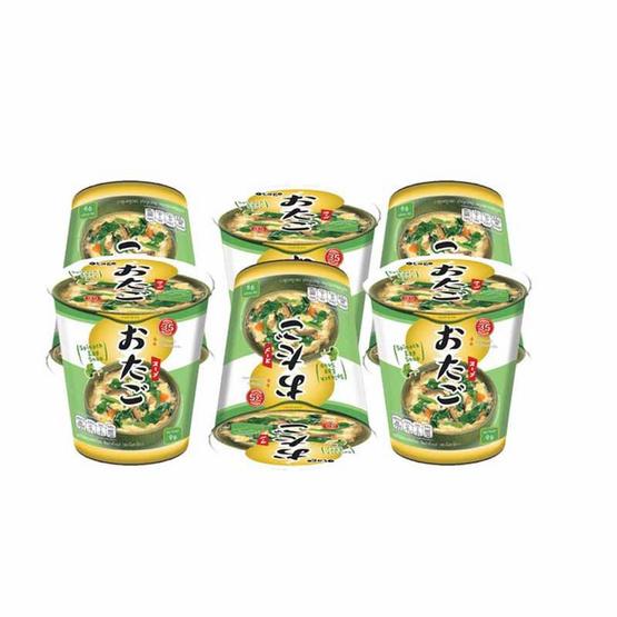 โอทาโกะซุปไข่ผสมผักโขมกึ่งสำเร็จรูปชนิดถ้วย 9 กรัม แพ็ก 6
