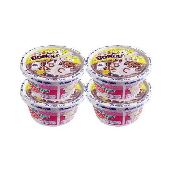 โดเน่มิลค์ ซีเรียลอาหารเช้าพร้อมนมในคัพ รสช็อกโกแลต 24 กรัม แพ็ก 4