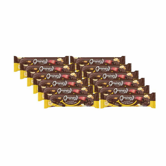 เกรนเน่ย์ ธัญพืชอัดแท่ง รสช็อกโกแลตบานาน่า 20 กรัมแพ็ก12