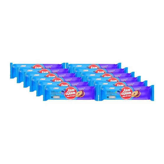 แยมโอแยม บิสกิตสอดไส้แยมบลูเบอร์รี่ 48 กรัม แพ็ก 12 ชิ้น