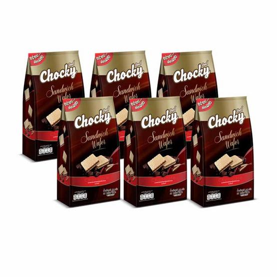 ช๊อคกี้ เวเฟอร์ไส้ครีม รสช็อกโกแลต 48 กรัม (แพ็ก 6 ชิ้น)